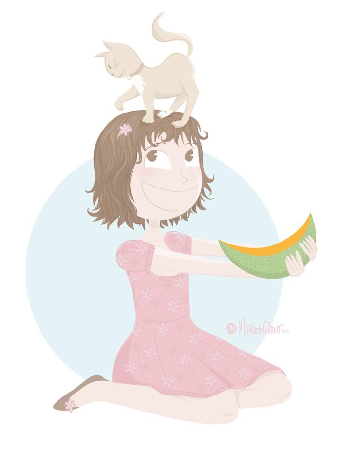 La course du melon