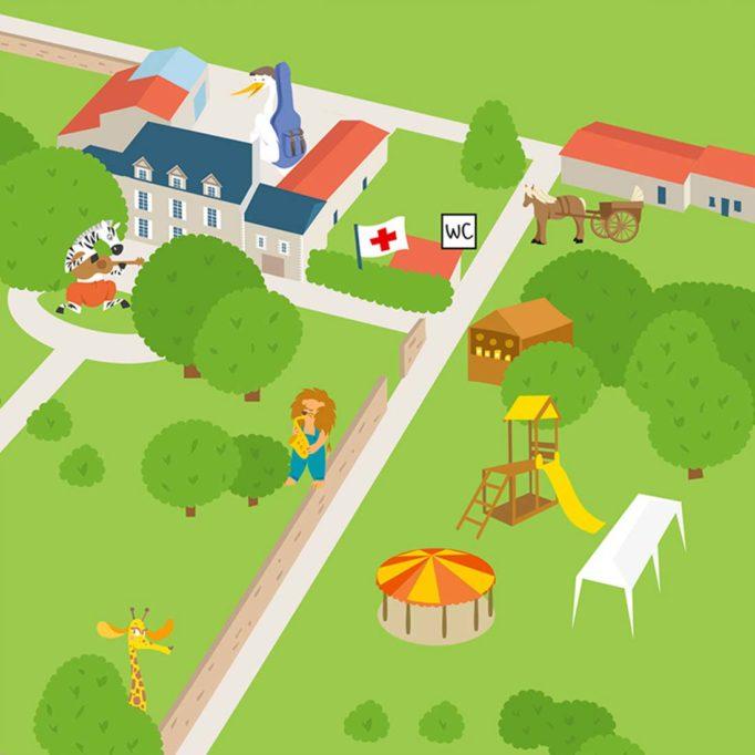 plan du Festival du Héron Voyageur