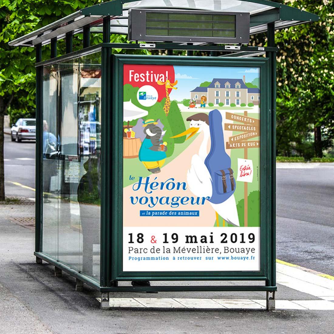 Affiche du Festival du Héron Voyageur