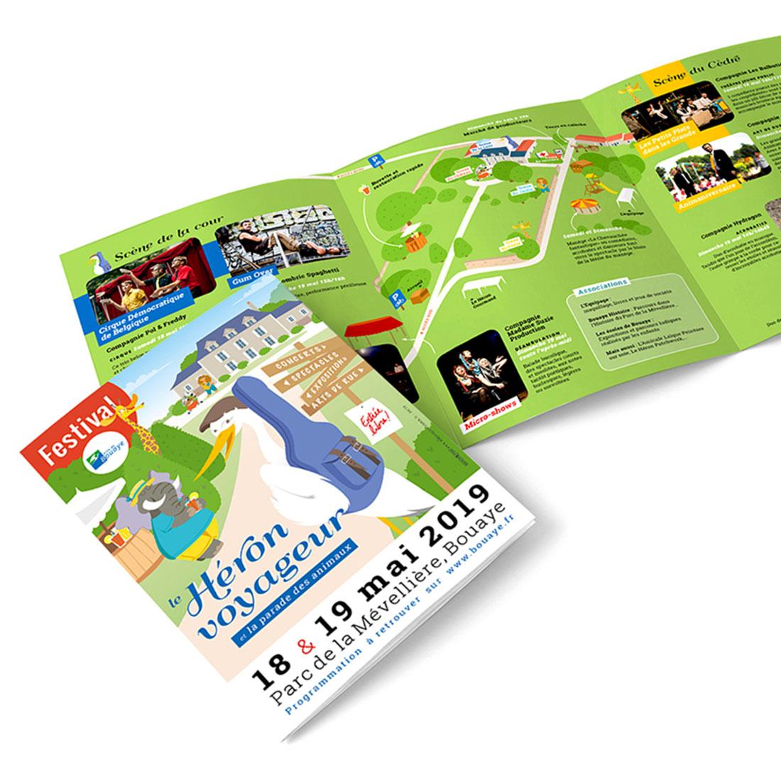 brochure du Festival du Héron Voyageur