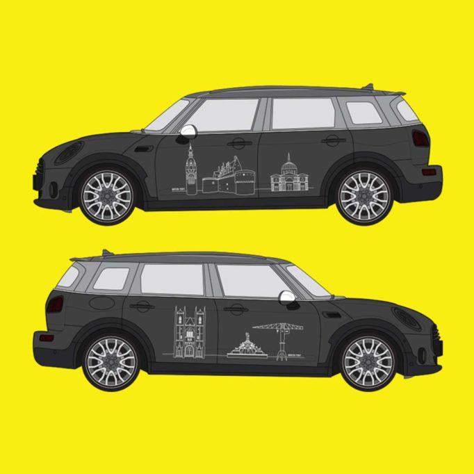 Mini Nantes - habillage des flancs de la voiture