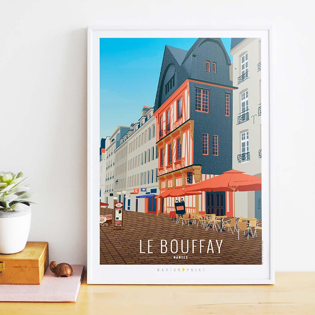 Nantes illustrée - affiche Bouffay