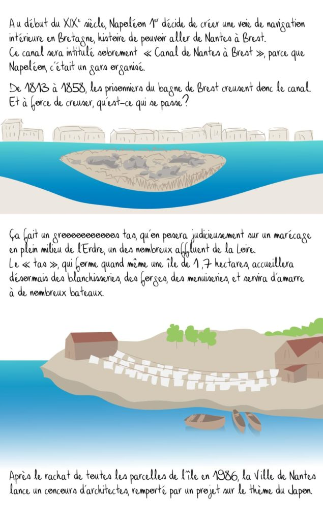 Histoire de l'Île Versailles, Nantes, partie 1