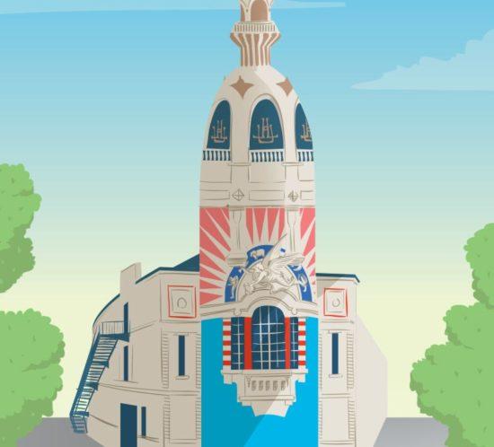 Illustration de la tour LU, Nantes