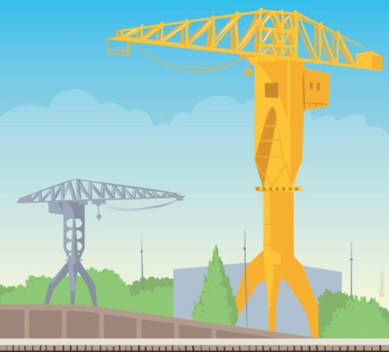 Illustration des grues titans, nantes