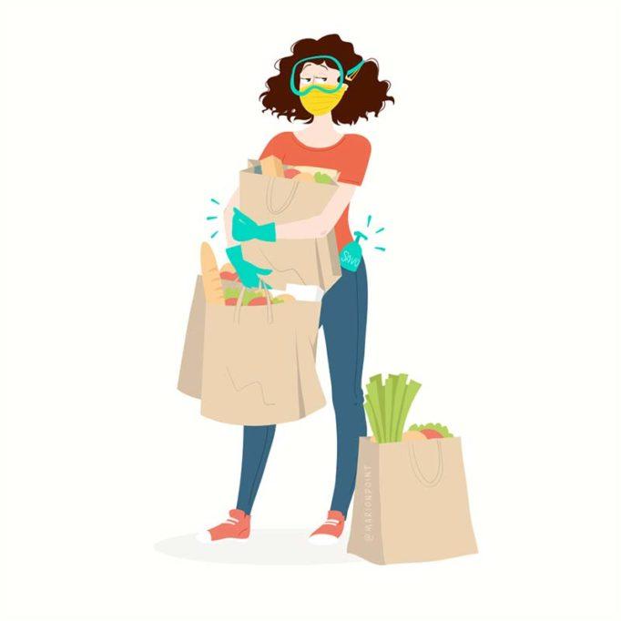 marion point : courses pendant le confinement