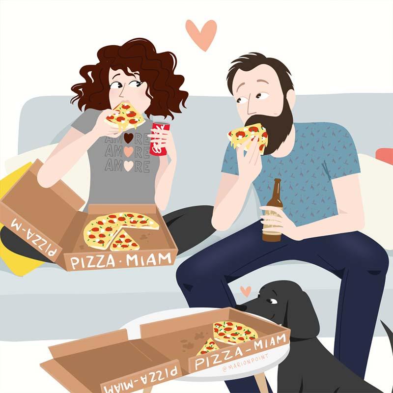 marion point : soirée pizza en amoureux