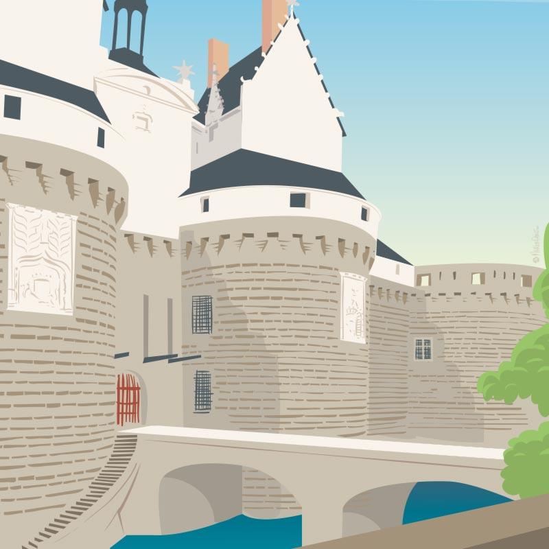 Illustration du Château des Ducs de Bretagne, Nantes