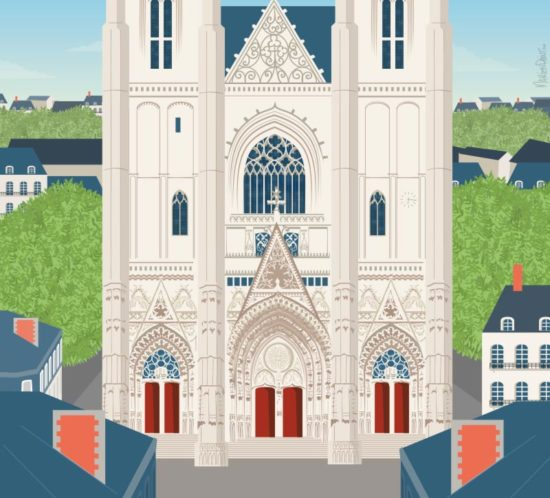 Illustration de la cathédrale de Nantes