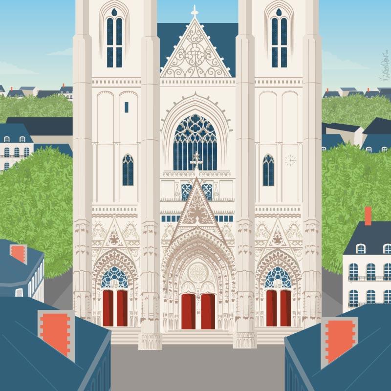 Illustration de la cathédrale de Nantes