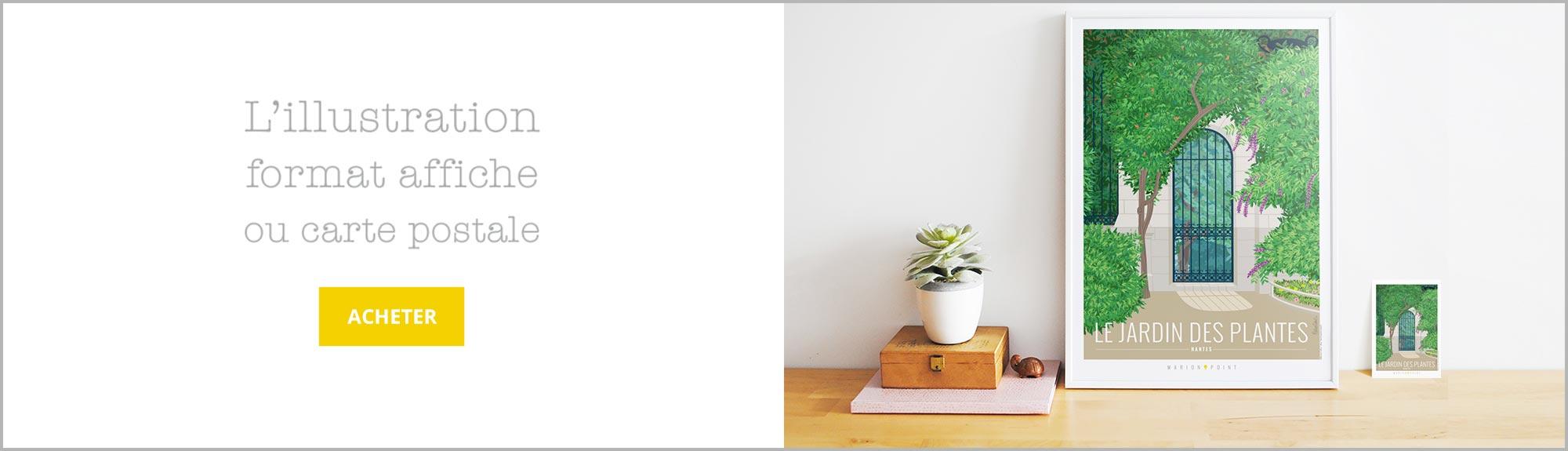 Acheter l'affiche Jardin des Plantes sur Etsy