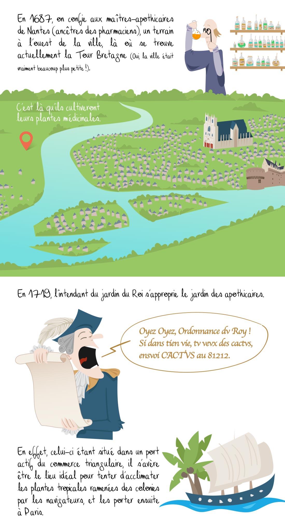 Histoire du jardin des plantes de Nantes, partie 1