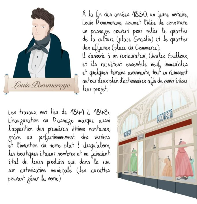 Histoire du passage Pommeraye, Nantes, partie 1