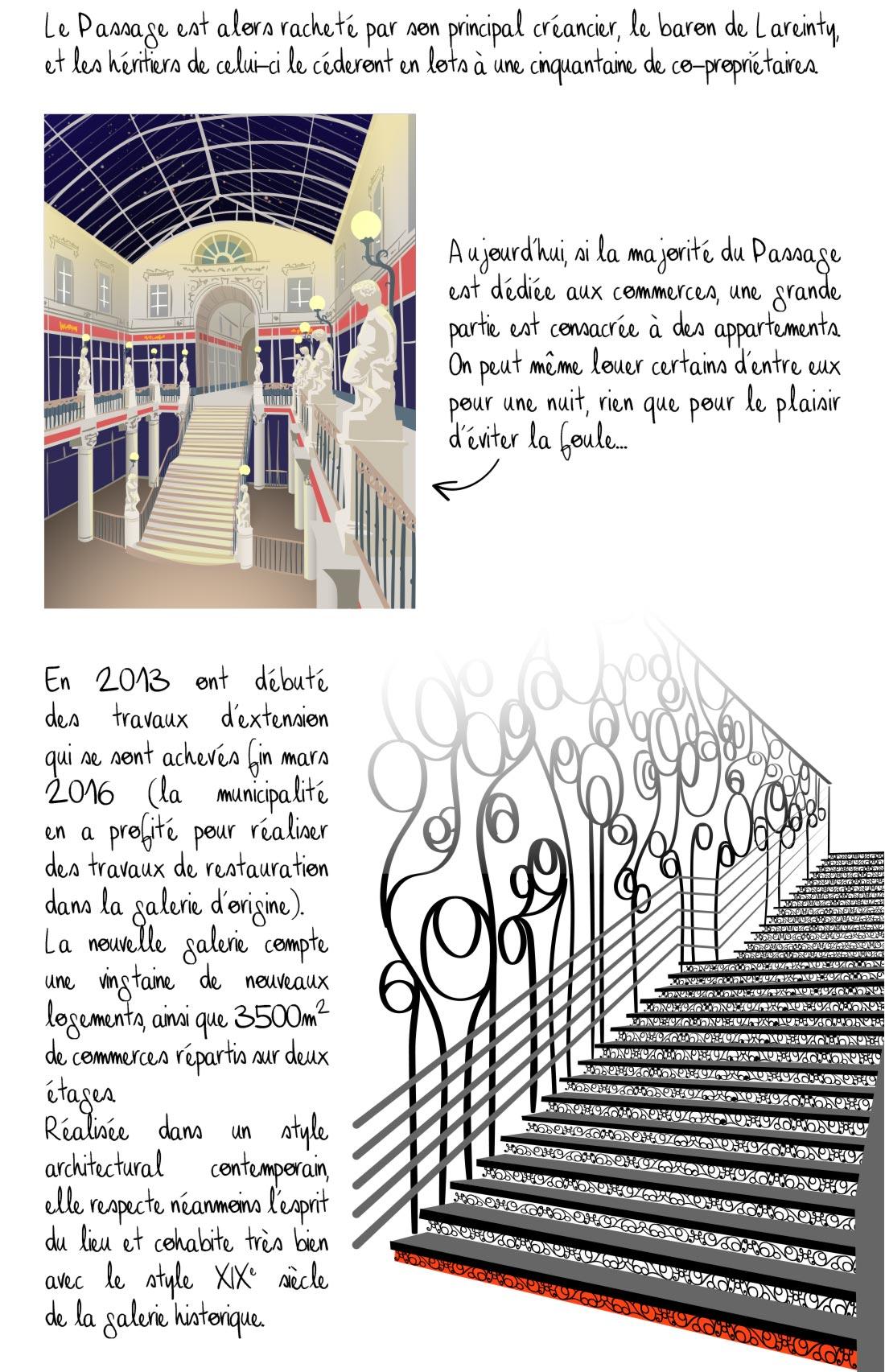 Histoire du passage Pommeraye, Nantes, partie 3