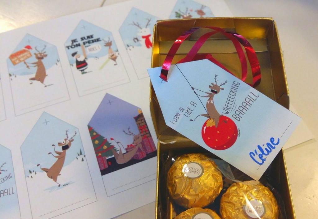 Printables • Etiquettes de Noël