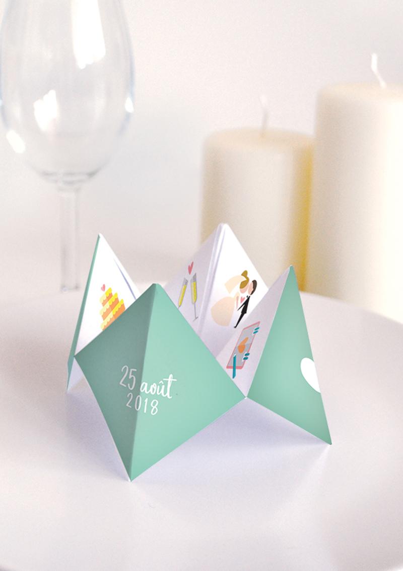 Modèle Cocotte en papier