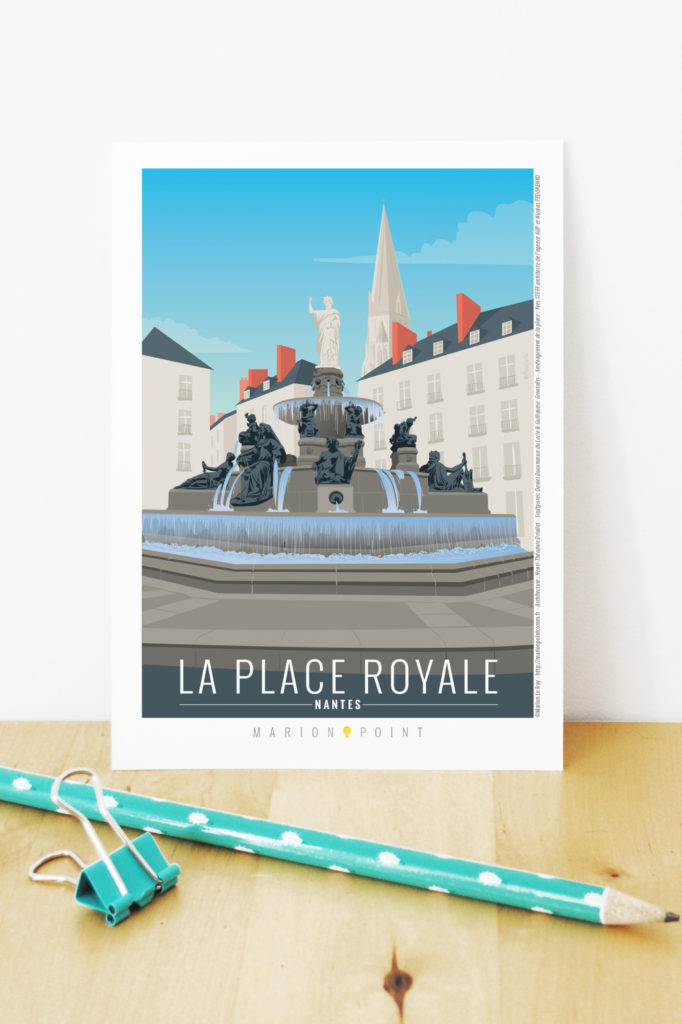 Carte postale - place Royale
