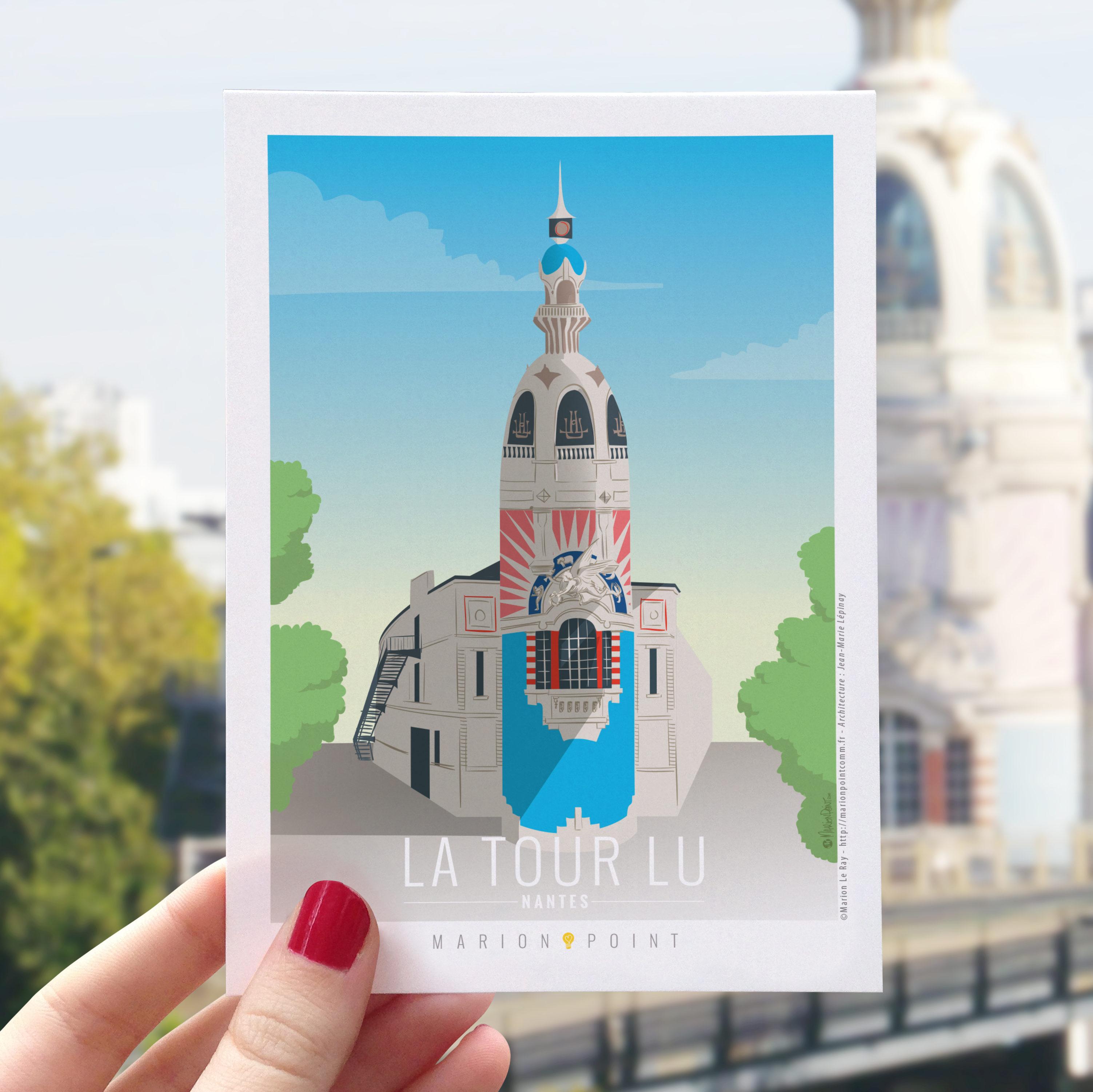Carte postale - Tour LU