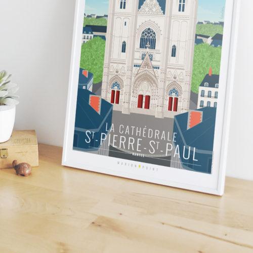 Affiche - Cathédrale St Pierre St Paul
