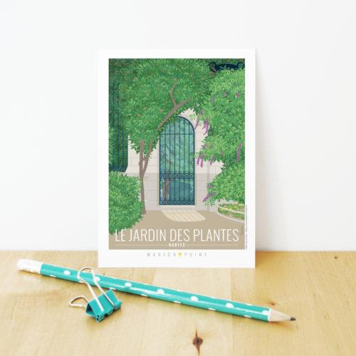Carte postale - Jardin des plantes