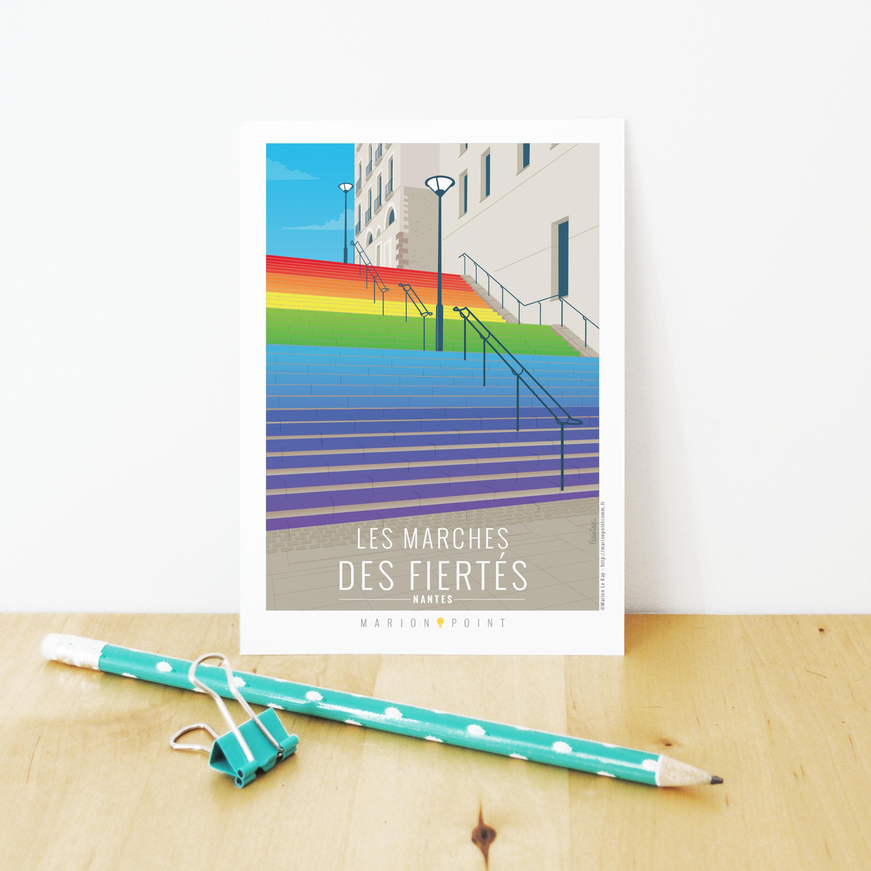 Carte postale - Marches des fiertés