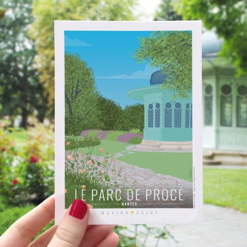 Carte postale - Parc de Procé