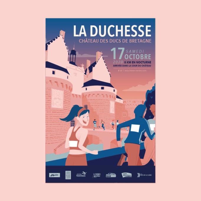 Course de la Duchesse Nantes - affiche