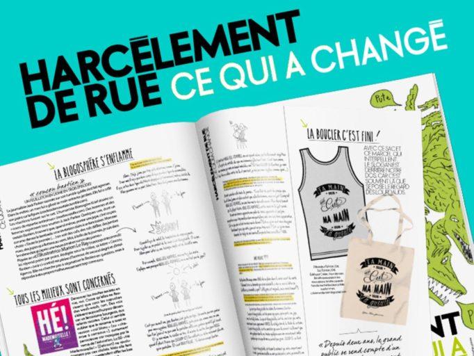 Publication dans le magazine Elle Belgique sur le thème du harcèlement de rue