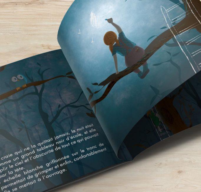 """Livre jeunesse """"Partager quelques étoiles"""", pages intérieures"""