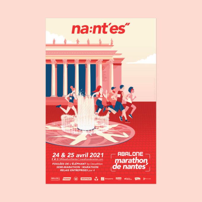 Marathon de Nantes - affiche