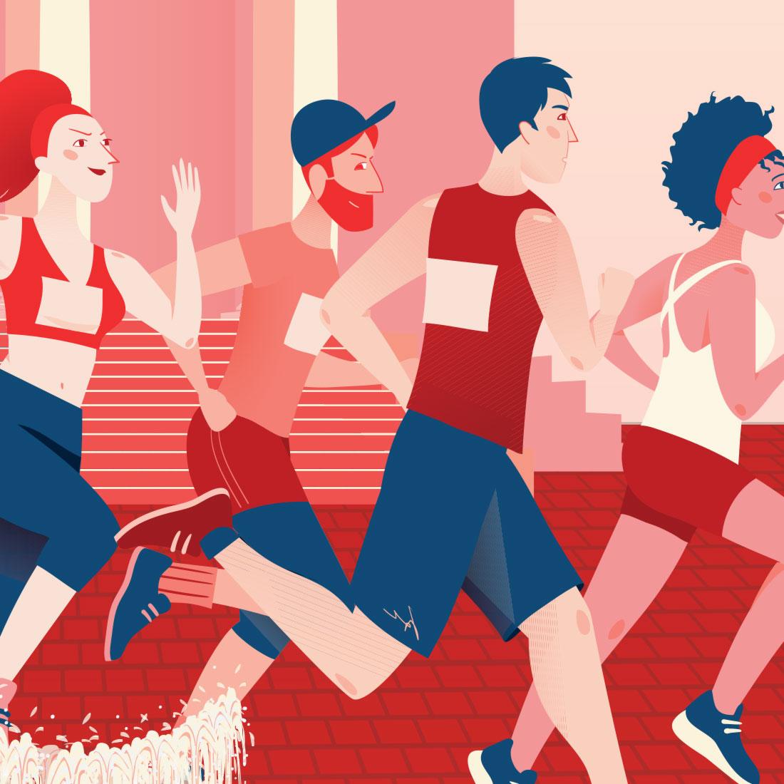 Marathon de Nantes - close up
